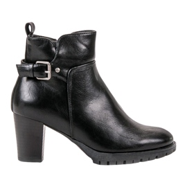 Vinceza Botas de outono elegantes preto