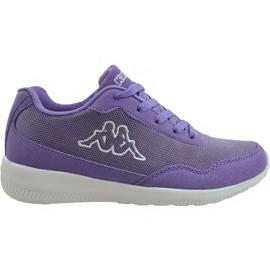 Kappa Follow W 242495 2310 sapatos de treino roxo