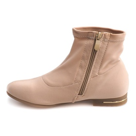 Botas de tecido elegante R105 Bege marrom