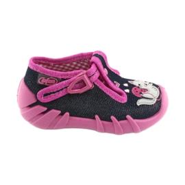 Befado sapatos infantis 110P348 prateado azul marinho