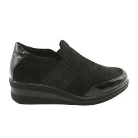 Sapatos pretos na cunha Sergio Leone 225