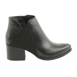 Gamis 3815 sapatos de salto alto em couro preto
