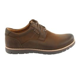 Sapatos de amarrar Riko 761 castanho marrom