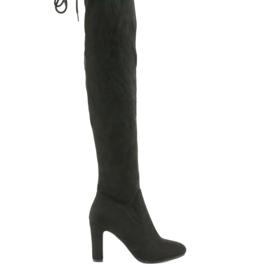 Filippo 996 botas de joelho elásticas preto