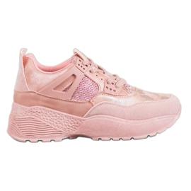 SHELOVET -de-rosa Sapatilhas Pink Camo