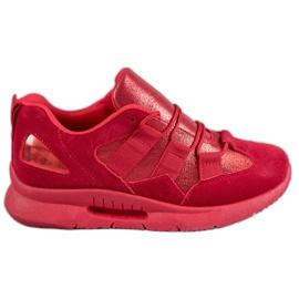 SHELOVET vermelho Calçado desportivo de camurça