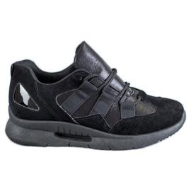SHELOVET preto Calçado desportivo de camurça