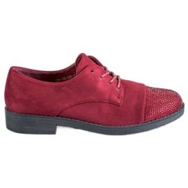 Best Shoes vermelho Sapatos baixos com cristais