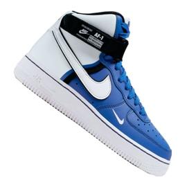 Nike Air Force 1 High LV8 2 Jr CI2164-400 sapatos branco-azul