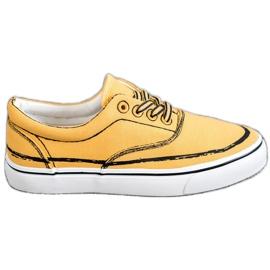 Bestelle amarelo Sapatilhas na moda