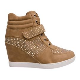 Tênis Wedges Sneakers 3188 Cáqui