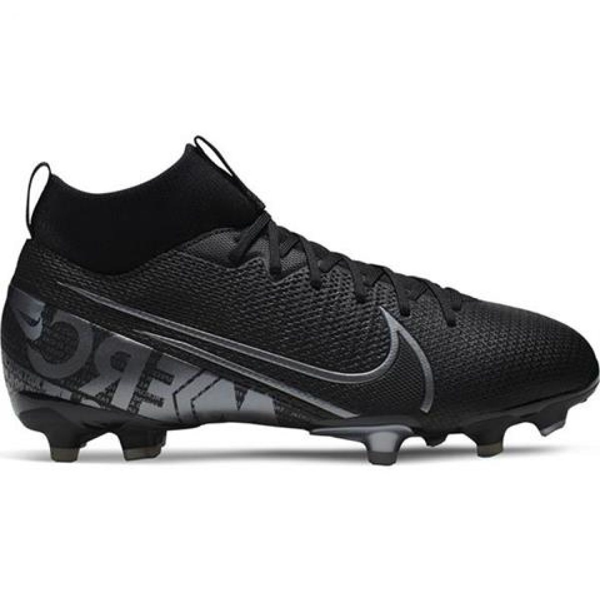 Chuteiras de futebol Nike Mercurial Superfly 7 Academy FG MG Jr AT8120 001 preto preto