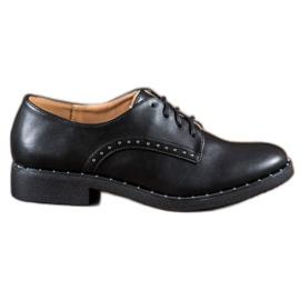 Danic preto Sapatos com zircões