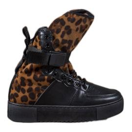 Diamantique Botas altas com estampa de leopardo