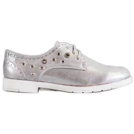 SHELOVET cinza Sapatos amarrados com couro ecológico
