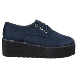 SHELOVET azul Sapatos de camurça na plataforma