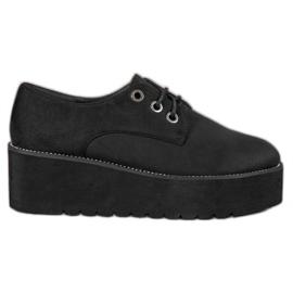 SHELOVET preto Sapatos de camurça na plataforma