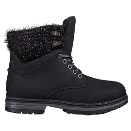 SHELOVET preto Trappers With Glitter