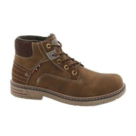 Sapatos de trekking em couro American Club CY37 marrom