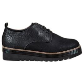 SHELOVET preto Sapatos na plataforma de impressão de cobra