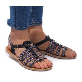 Sandálias Decoradas Com Glitter 3-8 Preto