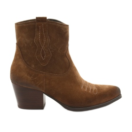 Gamis 3837 botas de camurça marrom