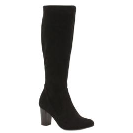 Caprice preto Botas elásticas para mulher