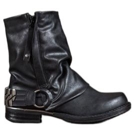 Seastar Botas de motoqueiro preto