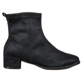 Small Swan Botas de Camurça Slip-on preto