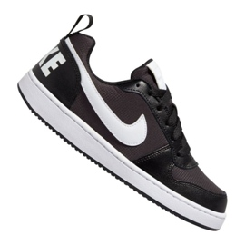 Sapatilhas Nike Court Borough Low Pe (GS) Jr BQ7566-002 preto preto