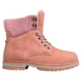 SHELOVET Trappers With Glitter -de-rosa