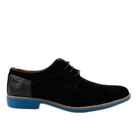 Sapatos elegantes pretos H-32