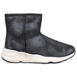 SHELOVET Botas de neve confortáveis preto