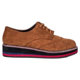 Vices Sapatos de camelo marrom