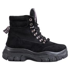 Botas na plataforma VICES preto