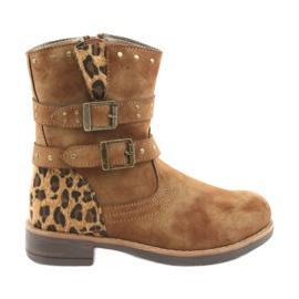 American Club Botas de leopardo jatos marrons americanos marrom