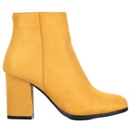 Marquiz Botas de camurça amarela amarelo