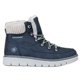 Goodin Caçadores na plataforma azul