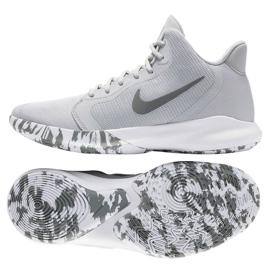 Sapatos Nike Precision Iii M AQ7495-004 cinza branco
