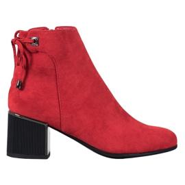 Goodin Botas de camurça vermelha vermelho