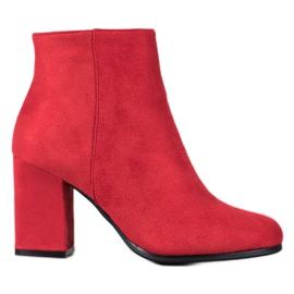 Marquiz Botas de camurça vermelha vermelho