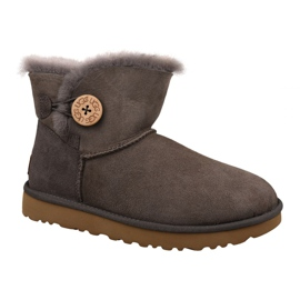 Ugg Mini Bailey Button II Sapatos W 1016422-MOLE marrom