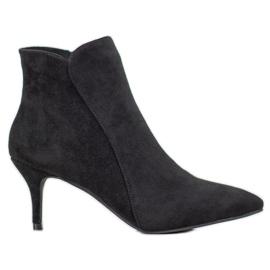 Kylie Botas de tornozelo camurça preto