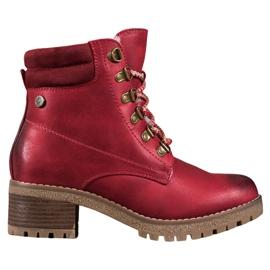 Goodin Botas vermelhas com pele de carneiro vermelho