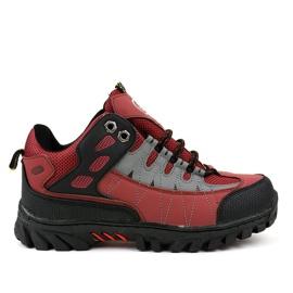 Sapatos de trekking para mulher vermelha W317