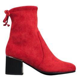 Goodin Botas vermelhas elegantes vermelho