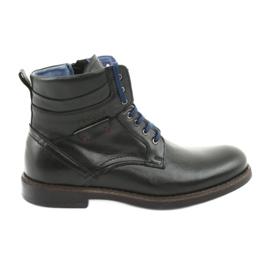 Nikopol 700 zipper botas pretas preto