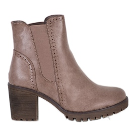 J. Star Botas de Plataforma Slip-on marrom