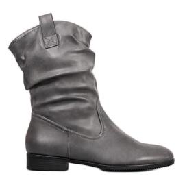 Sergio Leone Botas de cowboy cinza
