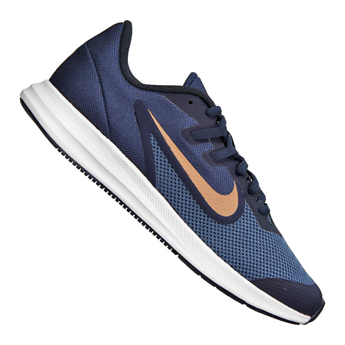 Tênis Infantil Nike Downshifter 9 GS Preto e Branco